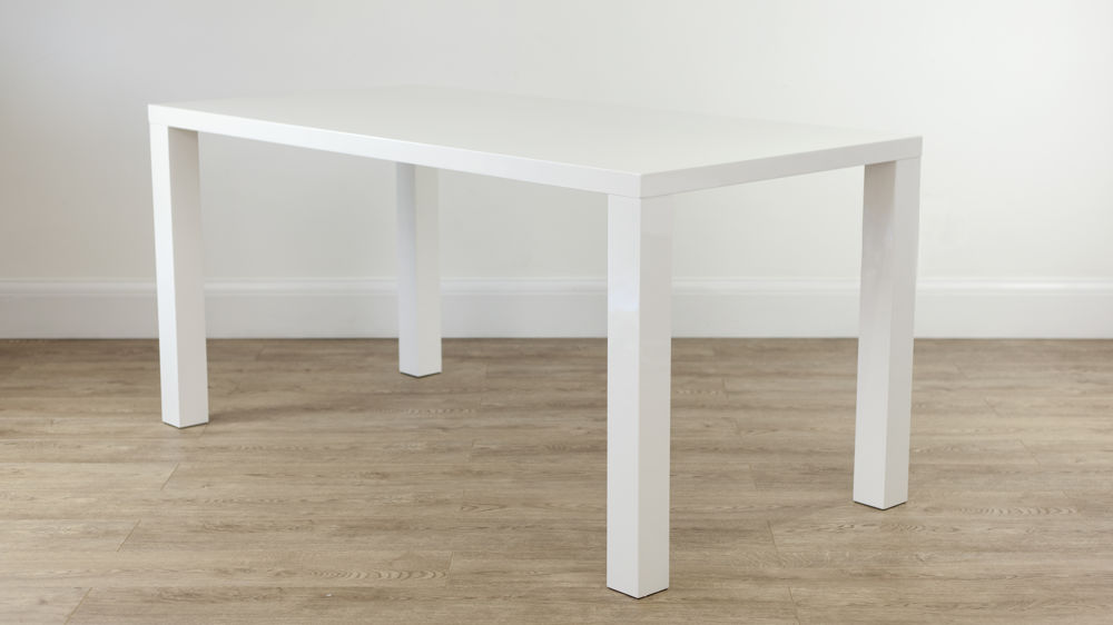 Contemporary 6 Seater White Gloss Dining Table