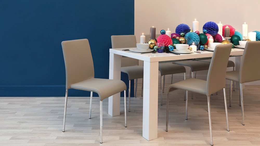 Modern extending gloss dining table UK