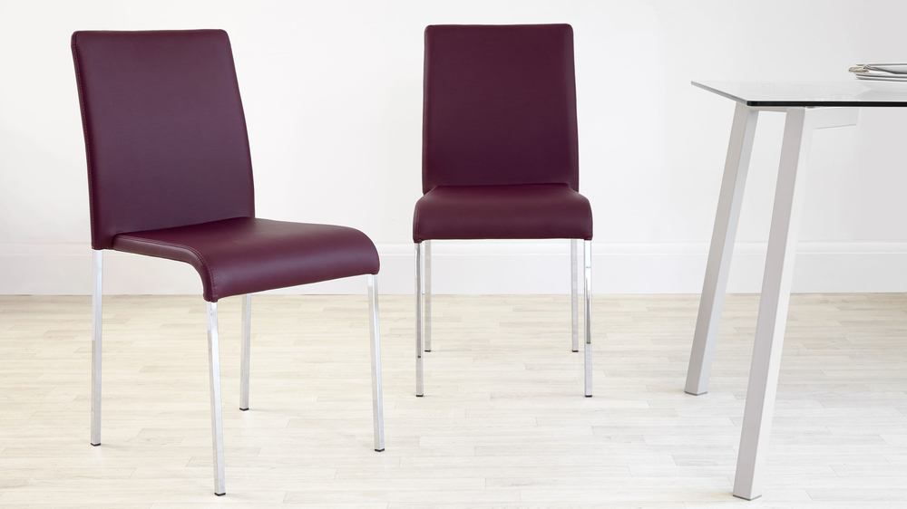 Mulberry purple dining chairs
