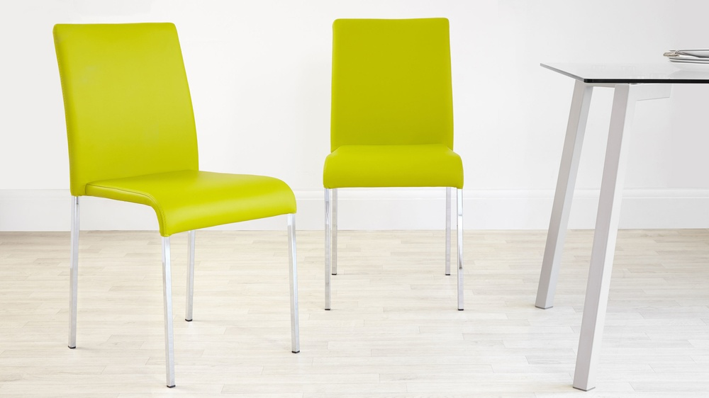 Yellow dining chairs