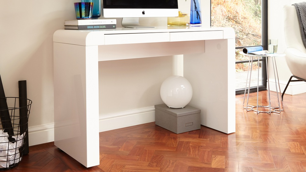 modern white gloss desk