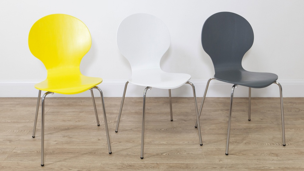 Mid-Century Modern Coloured Dining Chairs