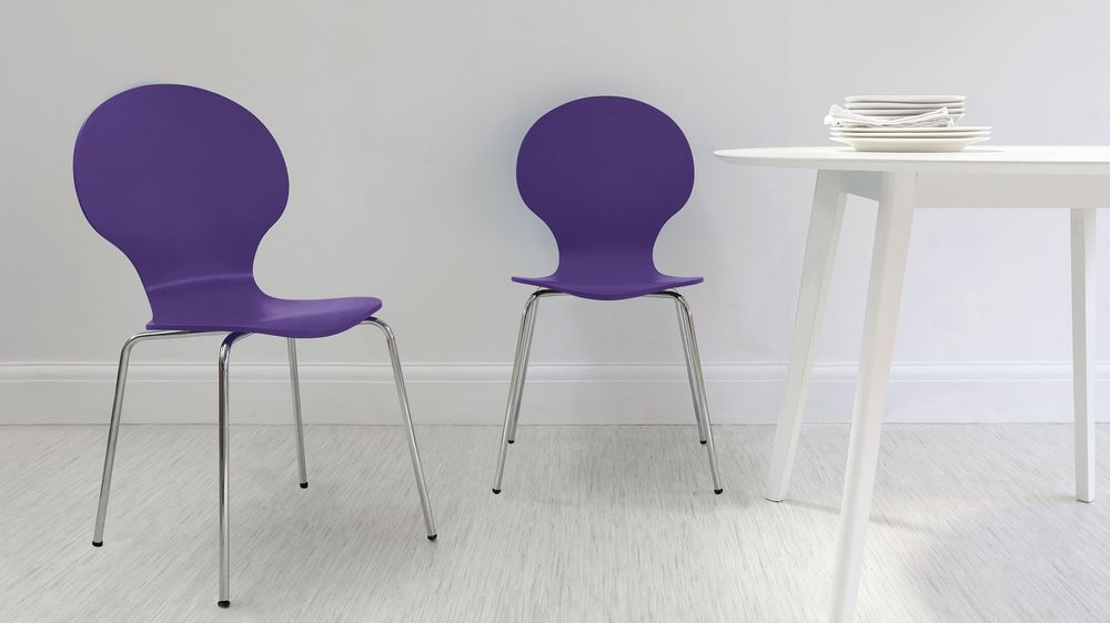 purple dining chair