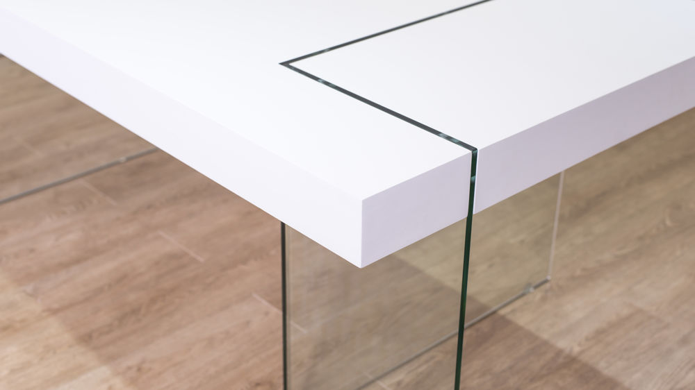 White and Glass Dining Table