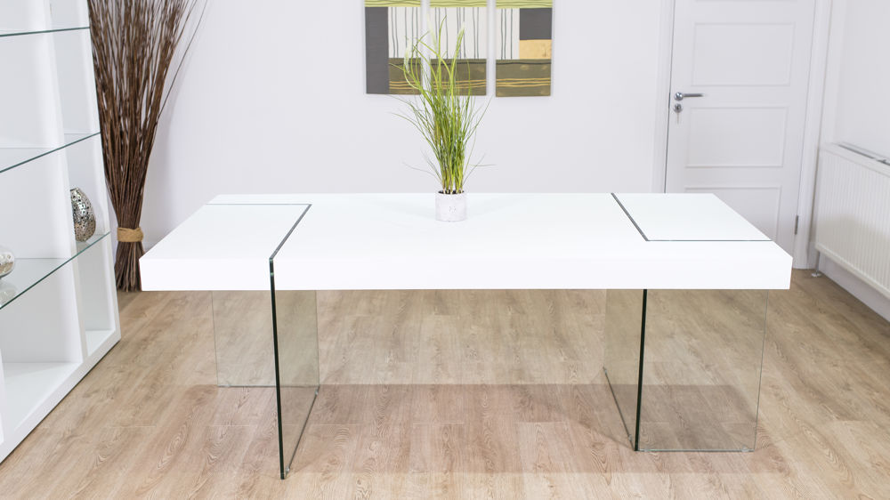 Large Glass Legged Dining Table
