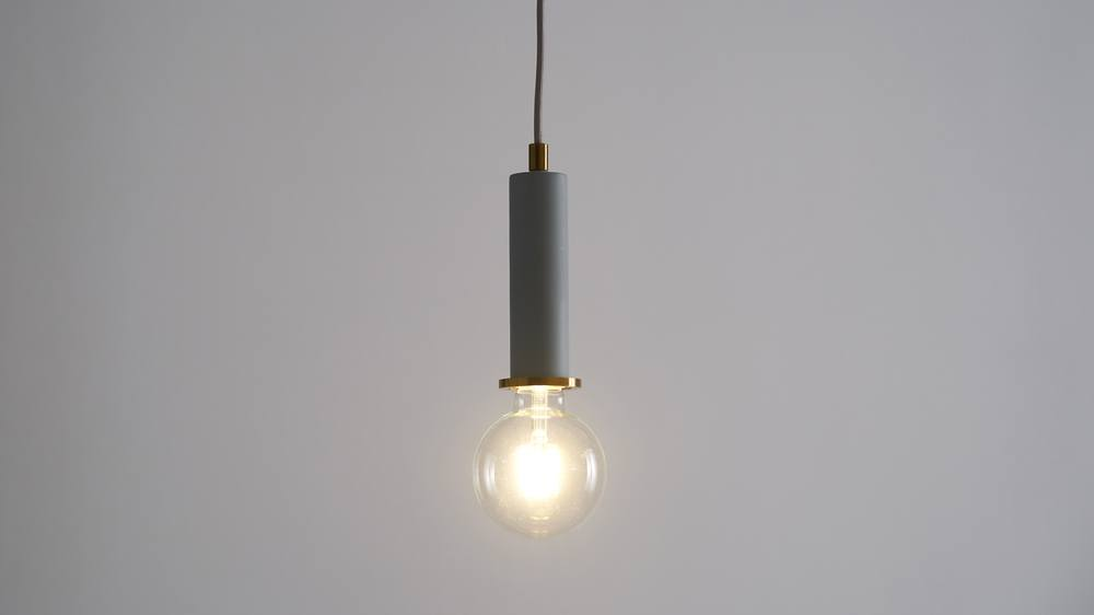 Small light grey pendant lights