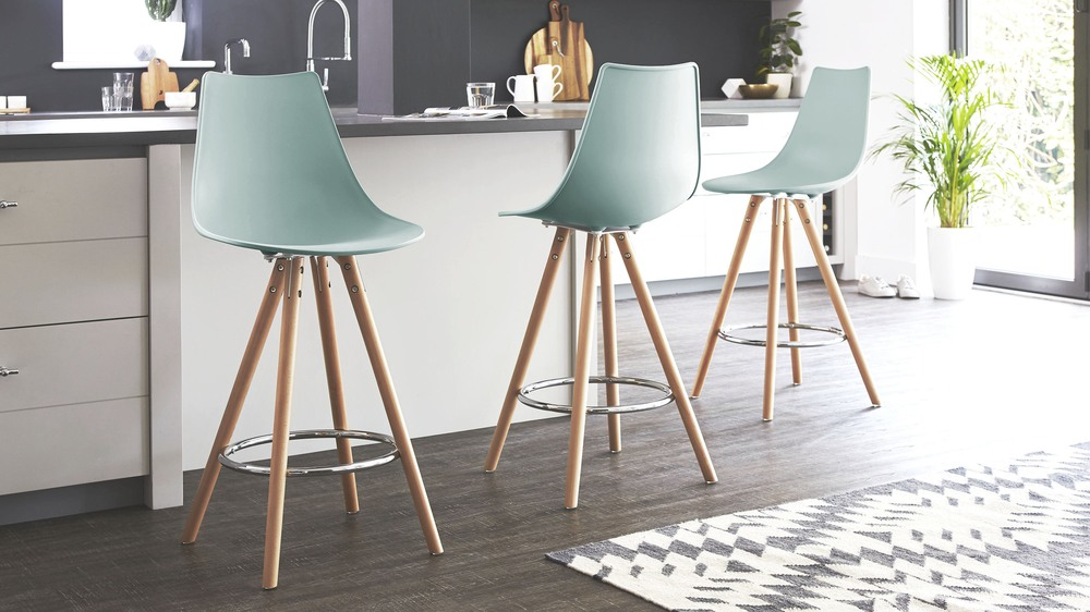Finn Colourful Plastic Bar Stools Danetti