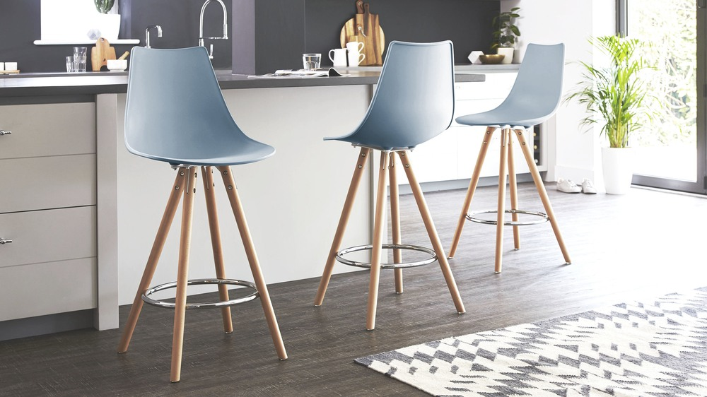 blue bar stools colourful plastic bar stool solid beech uk 29684