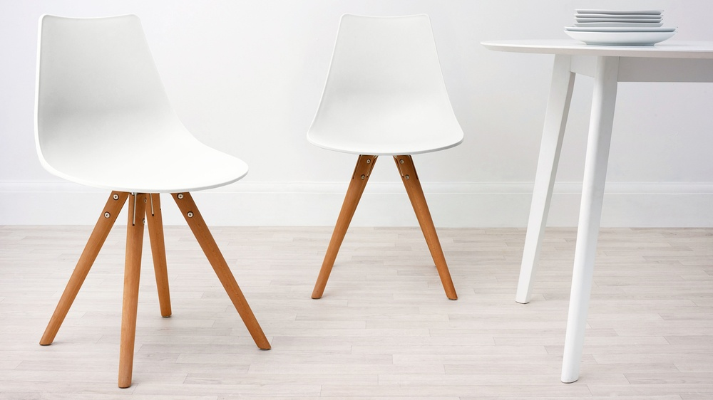 White and Wood Dining Chair