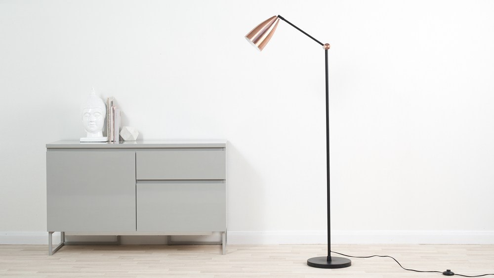 rose gold floor lamps