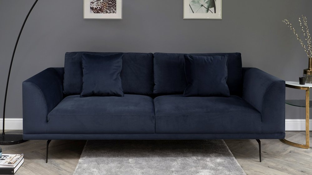 Florence Airforce Blue 3 Seater Sofa
