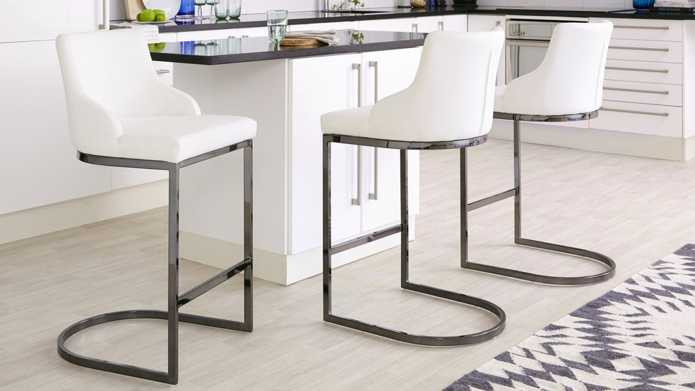 White high quality barstools