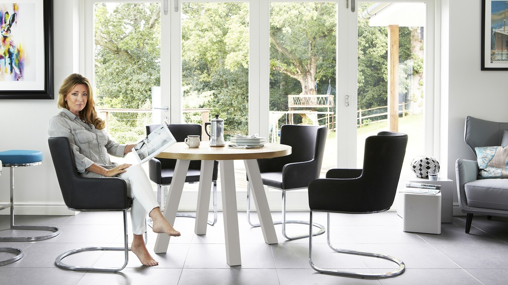 Black Dining Chairs with Arm Rests