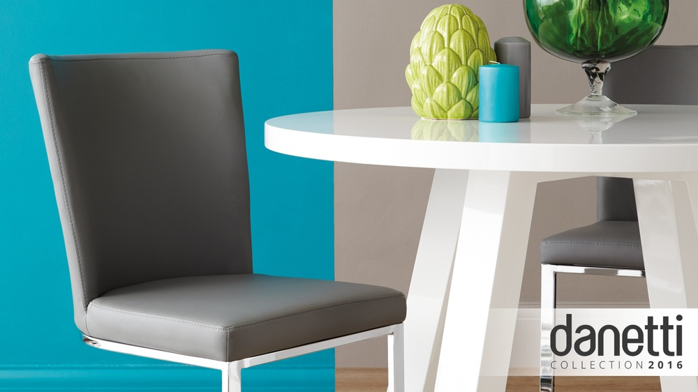 Modern grey design cantilever dining chairs