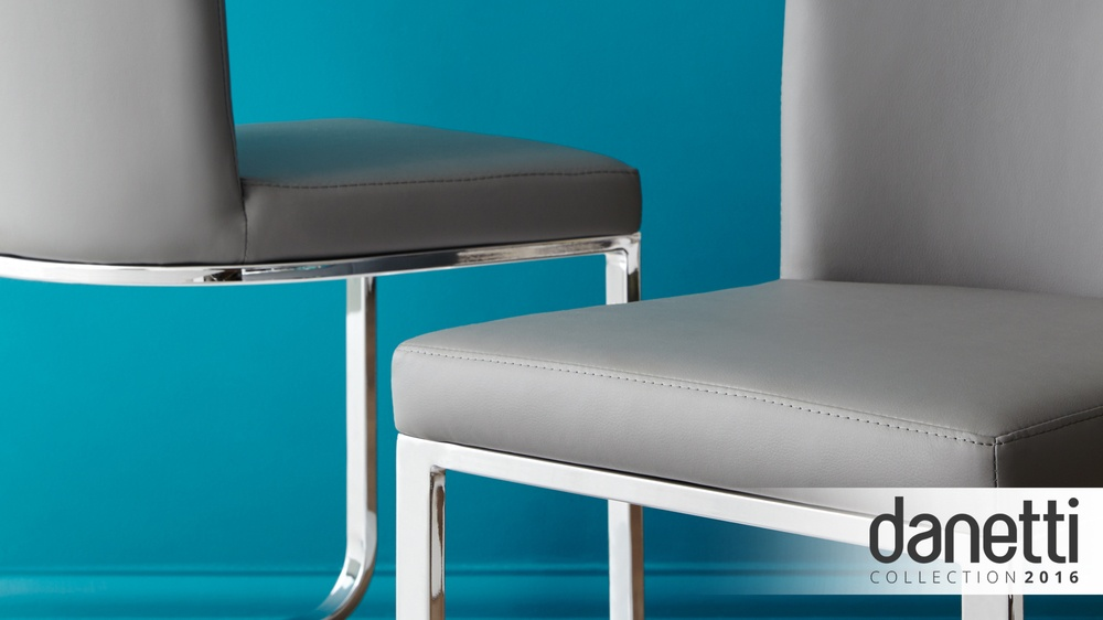Form Cantilever Graphite Dining Chairs Danetti
