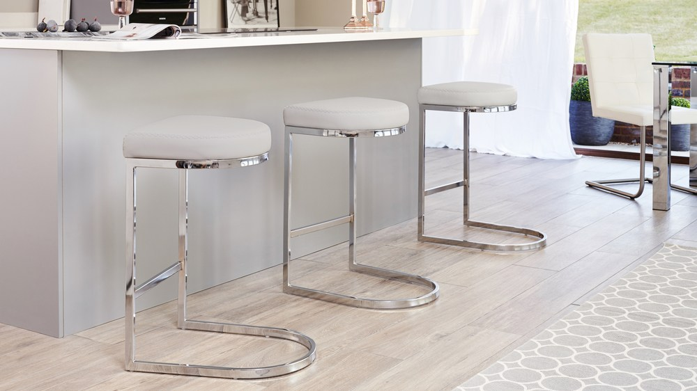 Light Grey Designer Barstools