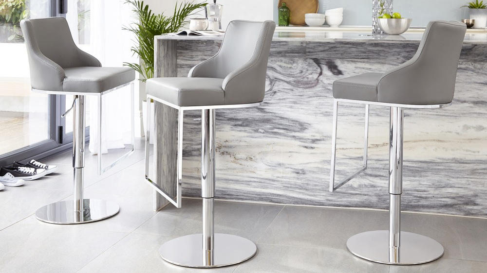 From modern faux leather chrome barstools