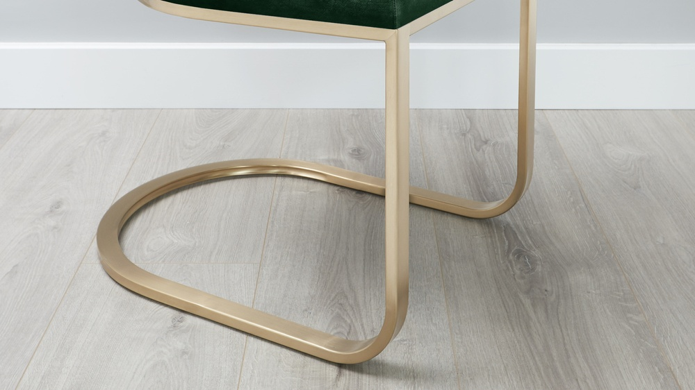 brass cantilever dining chairs