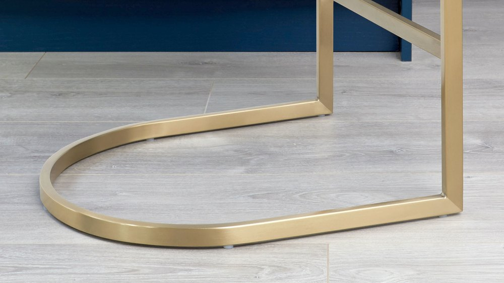 Brushed brass bar stool