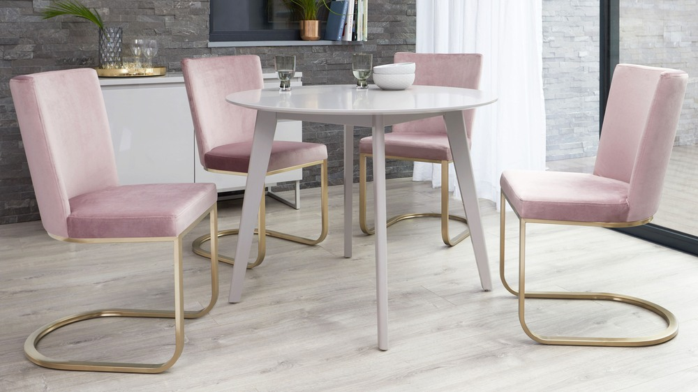 Form Velvet Cantilever Dining Chair Brushed Brass Uk