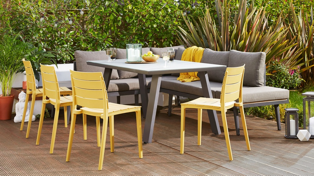 6 Seater Garden Furniture Fresco grey 6 seater trestle garden table 6 seater garden dining furniture workwithnaturefo