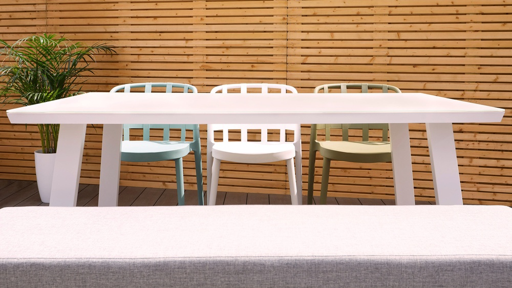Outdoor dining bench set