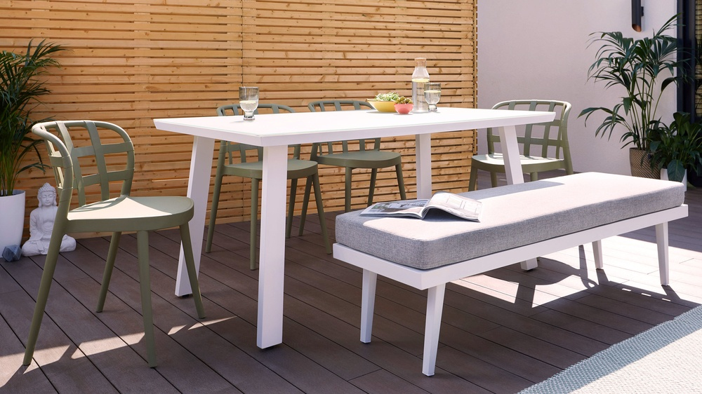 Garden dining bench set