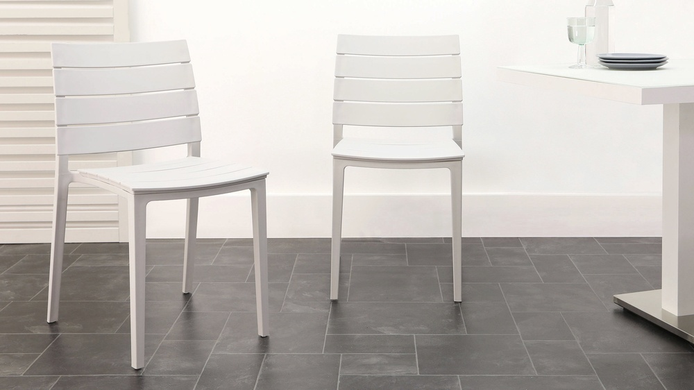 Cool grey stacking edie chair