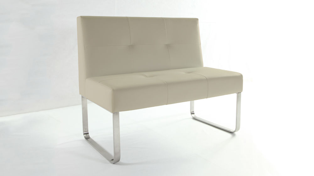 Modern Dining Bench with Backrest