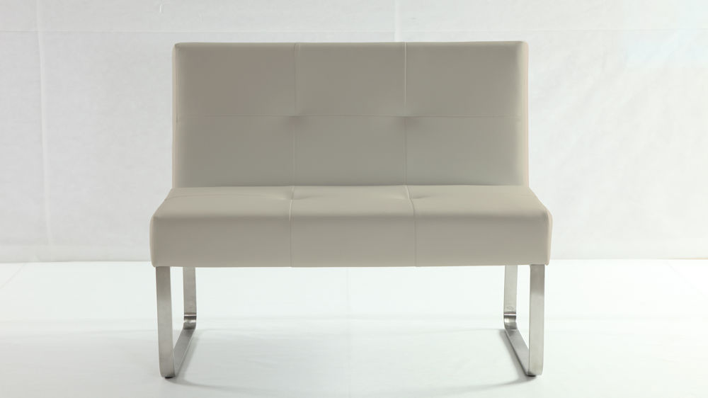 Comfortable Leather Dining Bench with Backrest