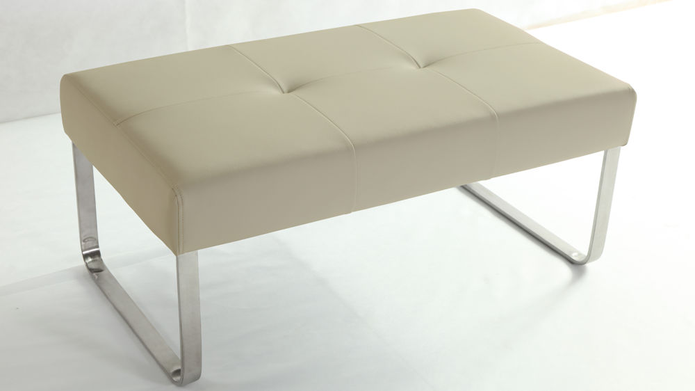 Comfortable Beige Dining Bench