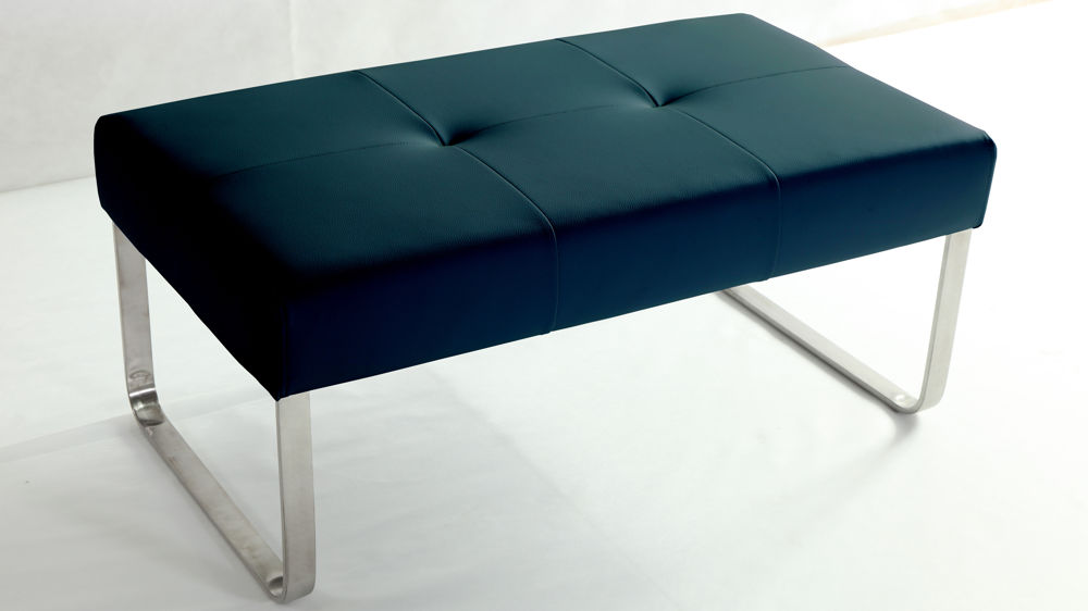 Dark Blue Dining Bench