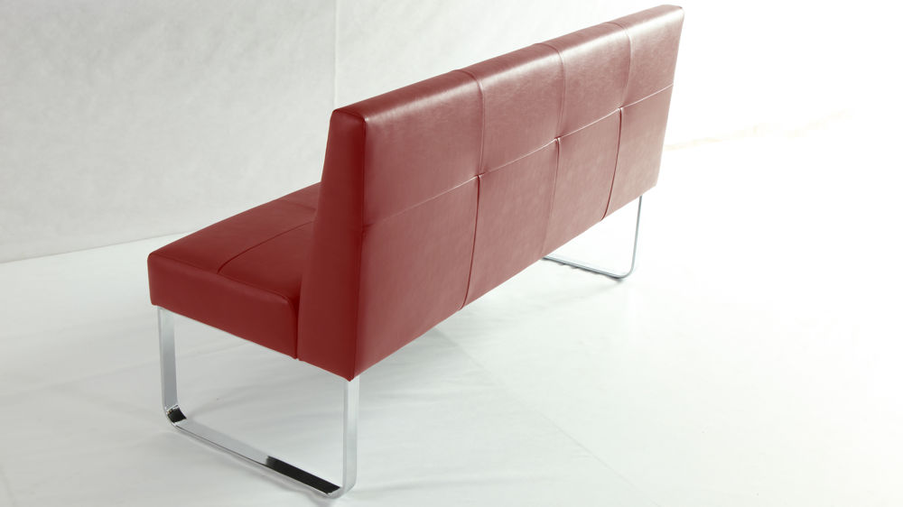 Beautiful Large Red Dining Bench With Backrest