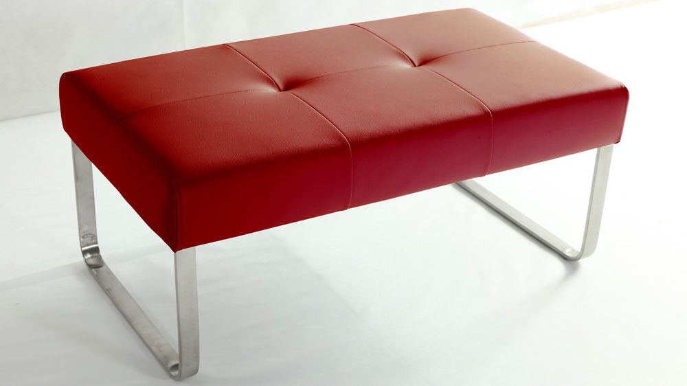 Small Red Dining Bench