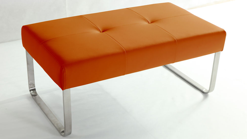 Orange Dining Bench
