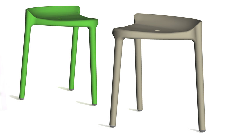 Plastic Stacking Low Stool Funky And Modern Low Stools