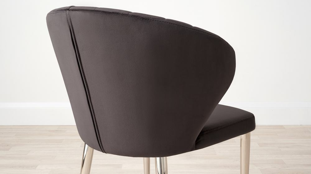 Supportive arc deco velvet dining chairs