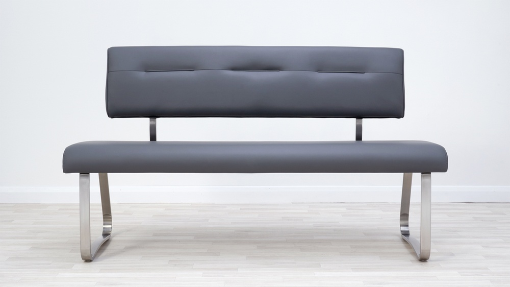 dark grey dining bench