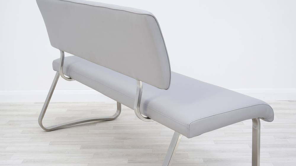 leather bench for kitchen