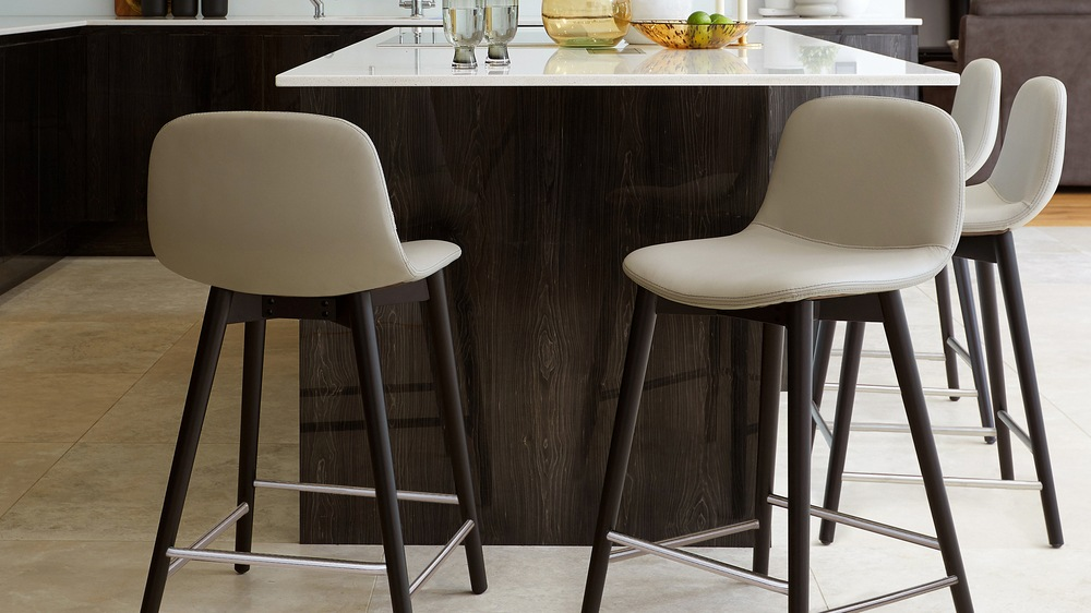 real leather bar stool