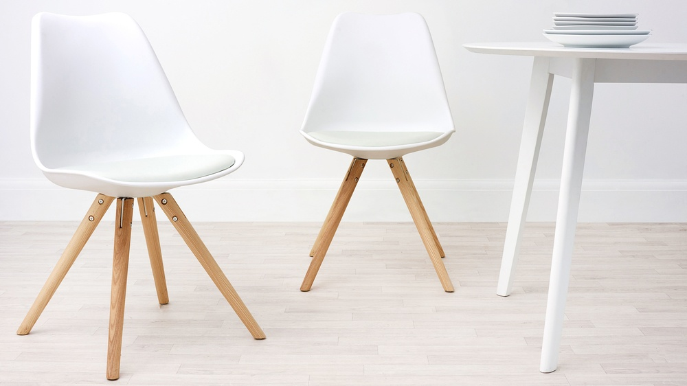 Modern Cushion White Dining Chair