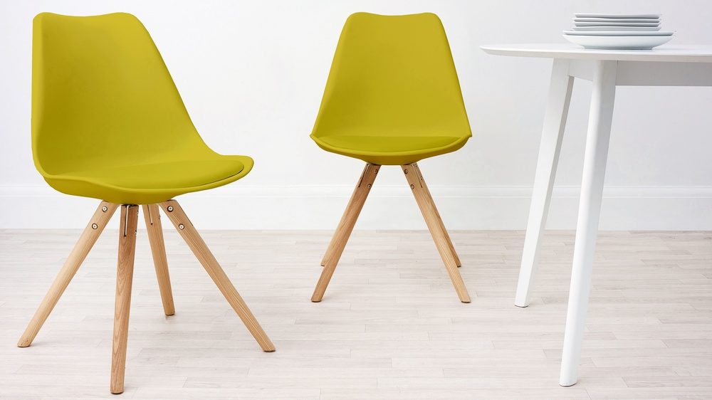 Modern Cushion Yellow Dining Chair