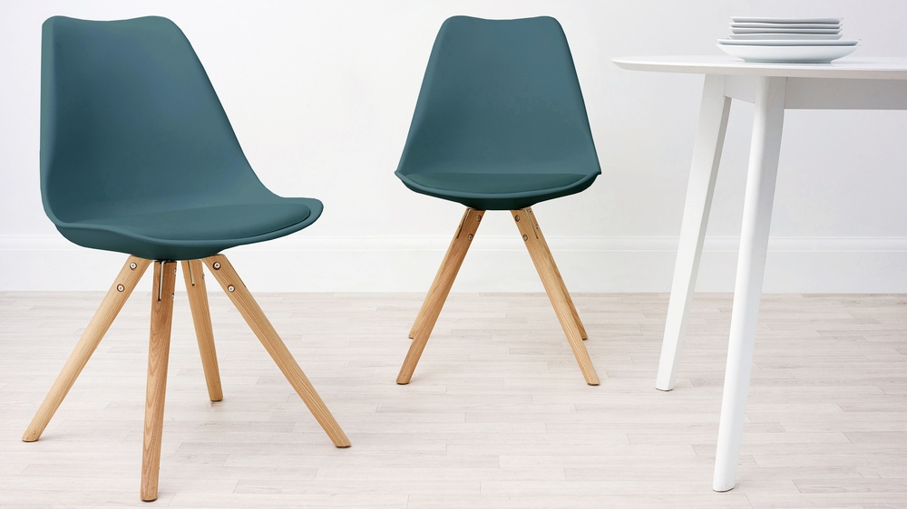 Modern Cushion Teal Dining Chair