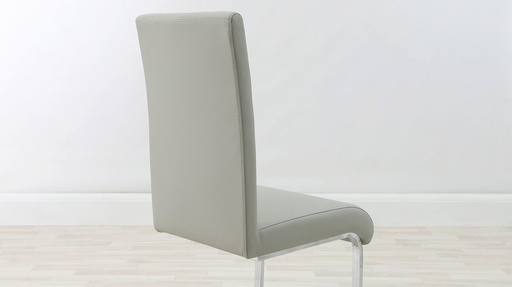 Grey Cantilever Dining Chair