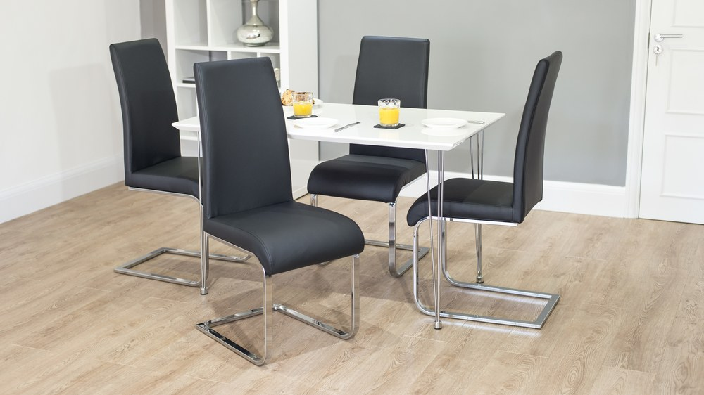 Imola Black Amp Grey Cantilever Chairs Danetti