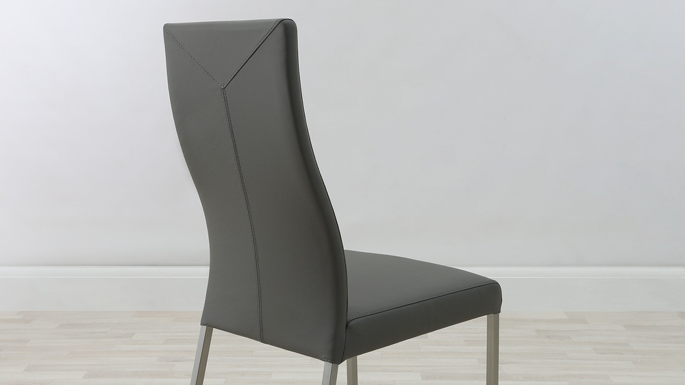 Coloured Real Leather Dining Chairs