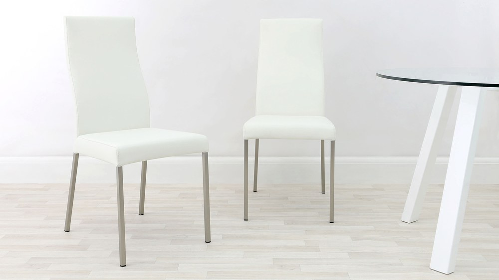 Iva Real Leather Dining Chairs Danetti