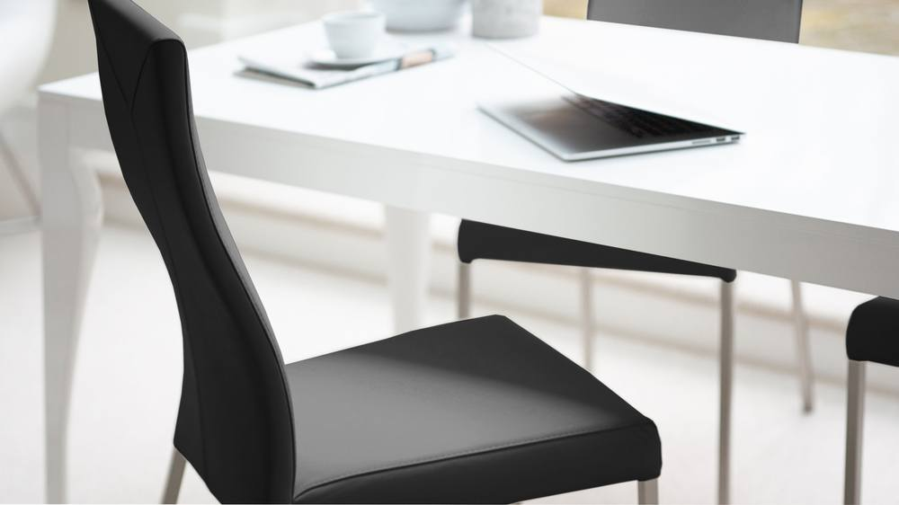 Real leather modern dining chair