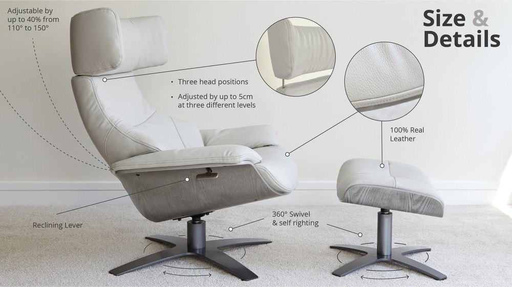 Comfortable Leather Reclining Chair Details