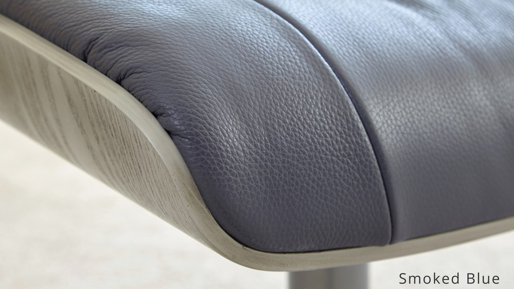 Modern Blue Leather Reclining Chair and stool | UK Delivery : leather reclining armchairs - islam-shia.org
